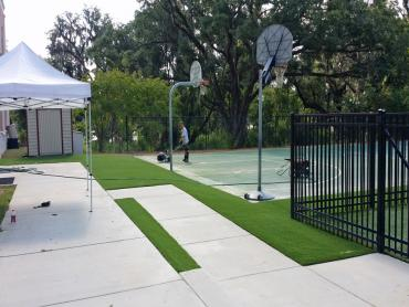 Artificial Grass Photos: Installing Artificial Grass Redkey, Indiana City Landscape, Commercial Landscape